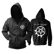 29 видов Швеции Арка враг рок на молнии худи, зимняя куртка в стиле панк death sudadera тяжелый металл черный свитшот верхняя одежда из флиса
