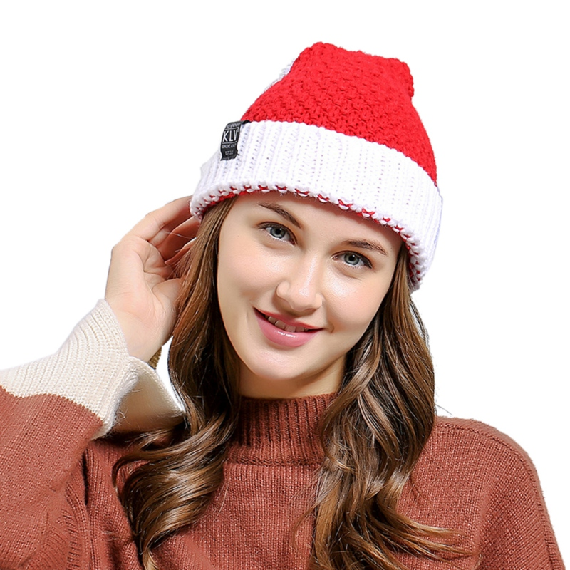 Santa Claus Knitted Wool Hat Autumn Winter Christmas Halloween Unique Gift Wool Hat Bomber Hats