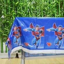 108x180cm Superman Tablecloth  Party Kids Birthday Decoration supplies