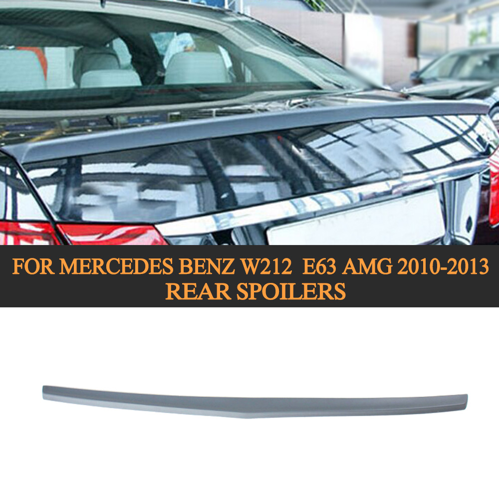 Unpainted PU Material Rear Spoilers for Mercedes Benz W212 E250 E350 E550 E300 E63 AMG 2010-2013 b Style Trunk spoiler 2010 2014 mercedes benz cls63 amg black weathertech cargo liners