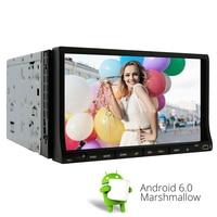 Gps навигация wifi Android 6,0 для Универсальный двойной 2 DIN 7 дюймов авто стерео dvd плеер Bluetooth 4 ядра радио + Бесплатная камера