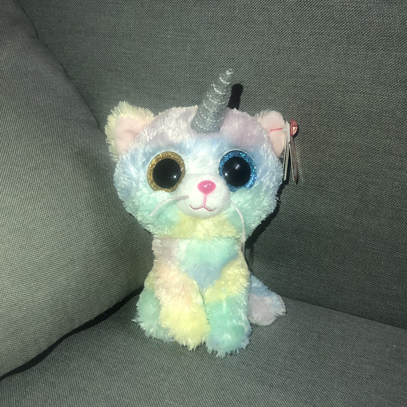 Cat Unicorn Plush Ty Beanie Boos Heather Animal Collection Toy High Quality New