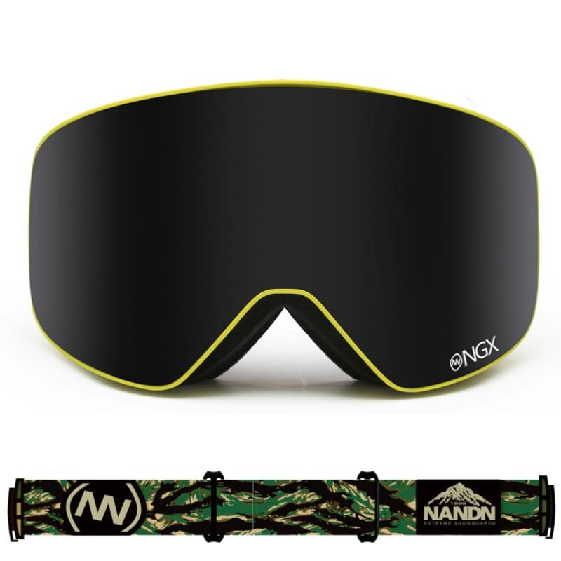 Professional Men & Women Ski Goggles Double Layer Skiing Goggles Big Spherical Anti Mist Windproof Skiing Glasses Snow Eyewear
