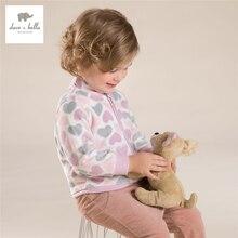 DB396-C davebella automne bébé filles multicolore coeur manteau filles doux amour survêtement