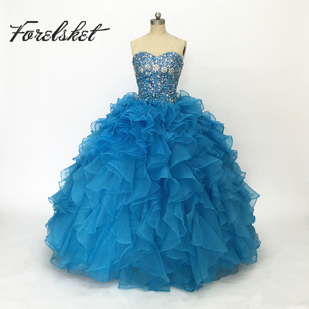 Ball Gown Quinceanera Dresses 2017 Sweetheart Crystals Sparkly Pink ...