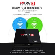 цена на 2019  Evpad3 Evpad 3 new version 2 G DDR3+ 16G EMMC 8 Core HDMI 2.0 4K 1080P Bluetooth Android TV Box with free gift
