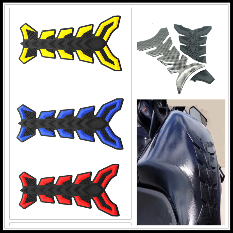 Motorcycle fish Pad Oil Gas Fuel Tank Cover <font><b>Sticker</b></font> Decal Protector for HONDA VTR1000F FIRESTORM CBR125R <font><b>CBR300R</b></font> CB300F FA image