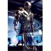 Мстители Железный ManMK2 1/4 UBS перезарядки Half Длина Портрет с светодиодный свет статуя фигурку для украшения дома X39