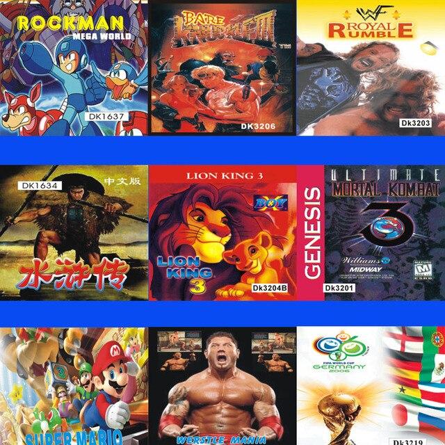 Personalizado Juegos Sega Genesis Sistema Md Juego Juegos De