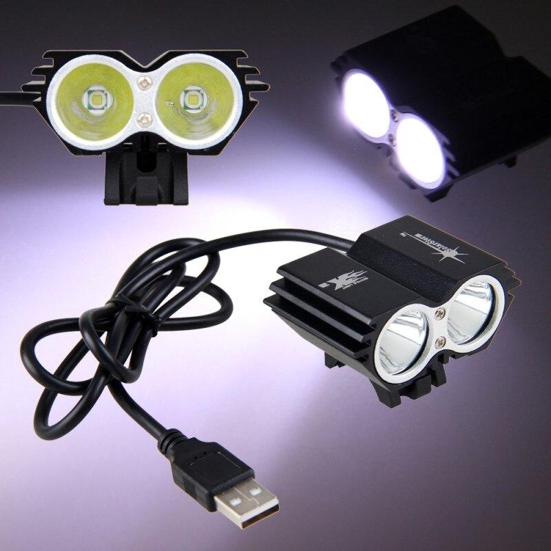 Shockproof Black USB Charging 8000 Lumens XM-L T6 LED Bike Light 3 Modes Front Cycling Bike Lamp with Battery Sets newest usb 8000 lumens flashlight led cree xm t6 l2 front torch bicycle light lamp with usb charger bike clip