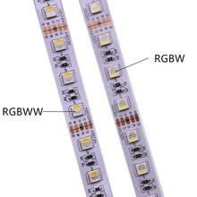 12V 24V SMD5050 RGBW RGBWW LED ストリップ RGB 白 RGB ウォームホワイト、 4 色で 1 LED チップ、 60 LED/M IP20 IP65 IP67 防水 LED テープ
