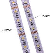 Светодиодная лента SMD5050 RGBW RGBWW, 12 В, 24 В, RGB, теплый белый свет, 4 цвета в 1, 60 светодиодов/м IP20 IP65 IP67, водонепроницаемая светодиодная лента