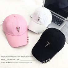 2803fa31297 2017 new hat female summer essential Korean travel ring pendant baseball cap  visor peaked cap personality