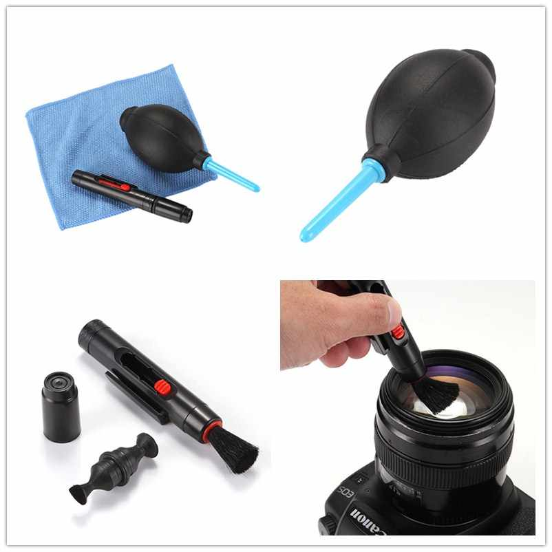 High Quality 3 in 1 Suit Dust Cleaner Air Blower Wipes Clean Cloth kit for DSLR VCR Camera Camera Cleaning Lens Brush