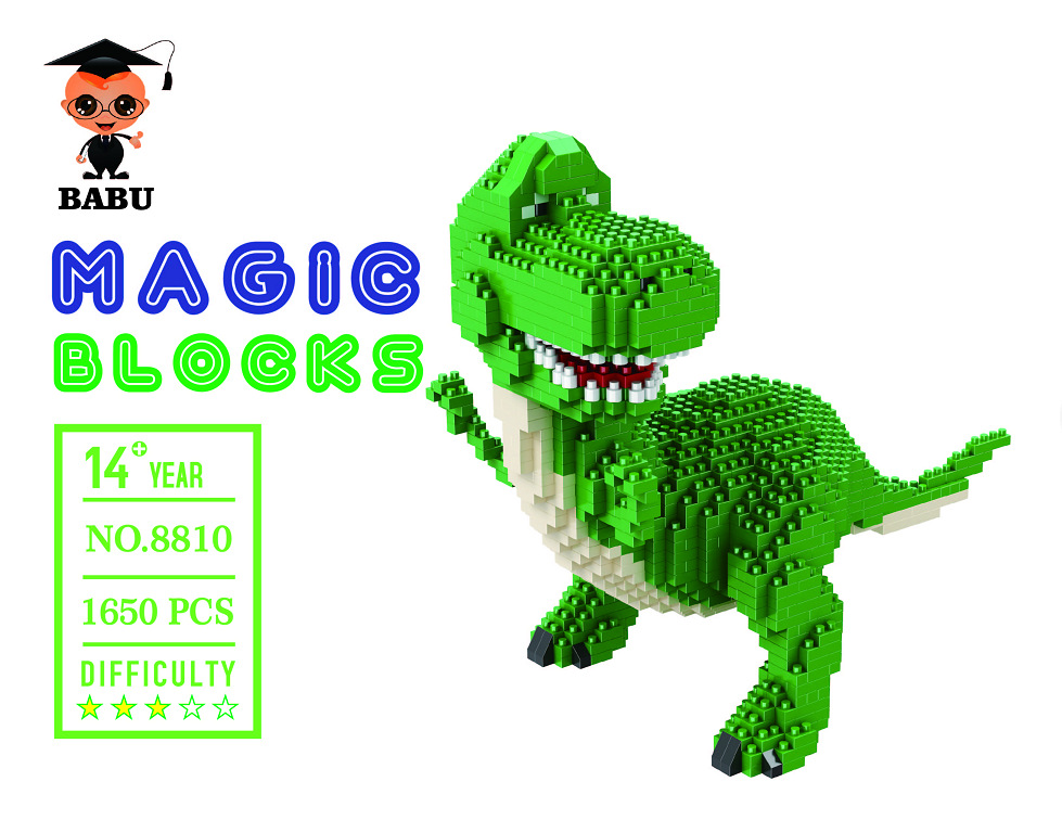 Image 4 - Mini Blocks Big size Cartoon Model Aliens Building Toy Anime Auction Figure Micro Brick Brinquedos Toys for Children Xmas Gift 8801-in Blocks from Toys & Hobbies