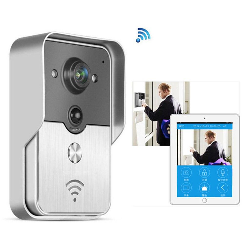 Беспроводной ip-видеодомофон 720 P умный Wi-Fi видео дверной телефон дверной звонок wifi дверной Звонок камера ночного видения PIR сигнализация раз...