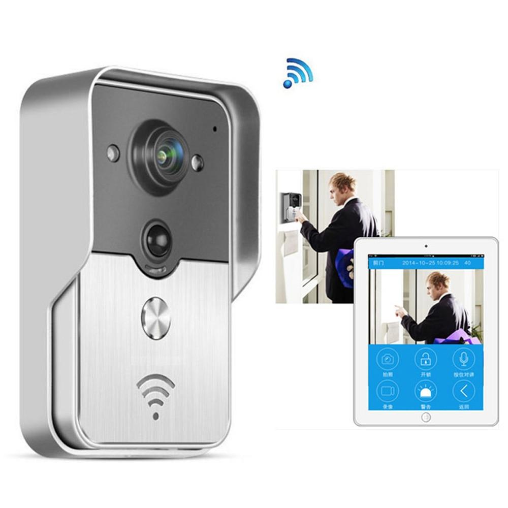 Wireless IP Video Intercom 720P Smart WI-FI Video Door Phone Door Bell WIFI Doorbell Camera Night Vision PIR Alarm Unlock цена 2017