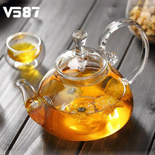 260ml 400ml 600ml 800ml Glass Teapot with Infuser Filter Home Office Tea