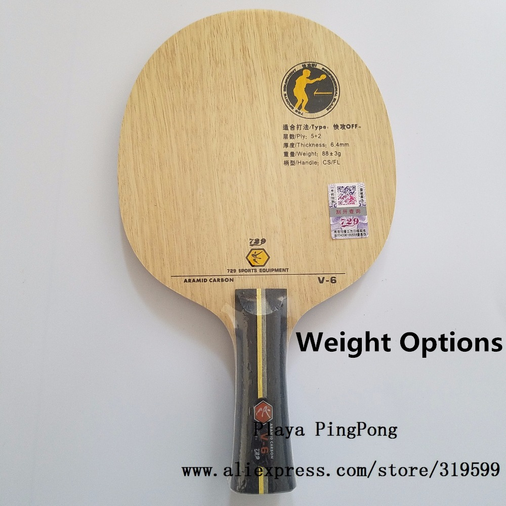 RITC 729 V6 Friendship V 6 V 6 Aryl Carbon OFF+ Table Tennis carbon Blade  for PingPong Racket-in Table Tennis Rackets from Sports & Entertainment on  ...