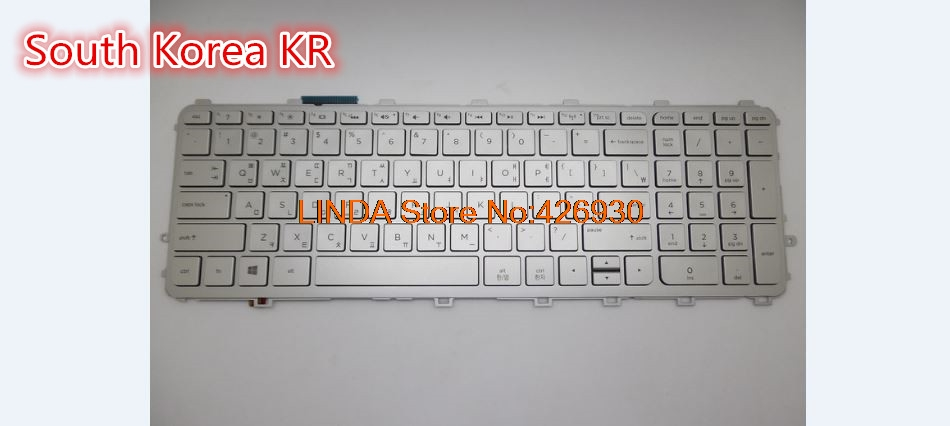 Laptop Keyboard For HP For envy 15-Q000 M6-N000 United States US/South Korea KR sliver frame with backlit 760743-001 760743-291 rtdpart laptop keyboard base for asus t100 t100ta us the united states black 95