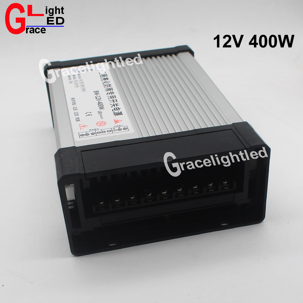 DC12V LED Outdoor Rainproof Power Supply 33A 400W LED