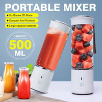 AUGIENB 500ml Portable Electric Juicer Blender USB Mini Fruit Mixers LED Machine USB Blenders Extractor Food Maker Smoothie Cup