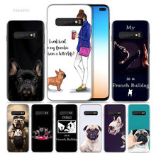 French Bulldog Cool Case for Samsung Galaxy S8 S9 S10 5G S10e S7 Note 8 9 J4 J6 Plus J5 J8 2018 J3 Silicone Phone Bag Capa Coque(China)