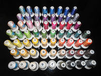New Arriving Brother Colors Series Polyester Computer Machine Embroidery Thread Filament,500m*63 *5 Sets, Free Shipping
