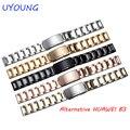 Fivela de cinta de aço inoxidável pulseira de luxo para huawei b3 pulso bandas de substituição para huawei watch hot