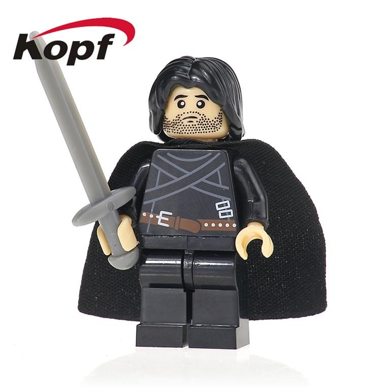 50Pcs XH 420 Jon Snow Jaim Lannister Daenerys Game of Thrones TV Ice and Fire Series Building Bricks Figures Toys For Children