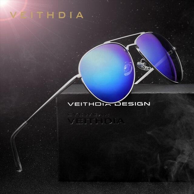 VEITHDIA Recubrimiento Unisex Moda Gafas de Sol Polarizadas Espejo gafas de Sol gafas de sol feminino Gafas Para Los Hombres/de Las Mujeres 2736