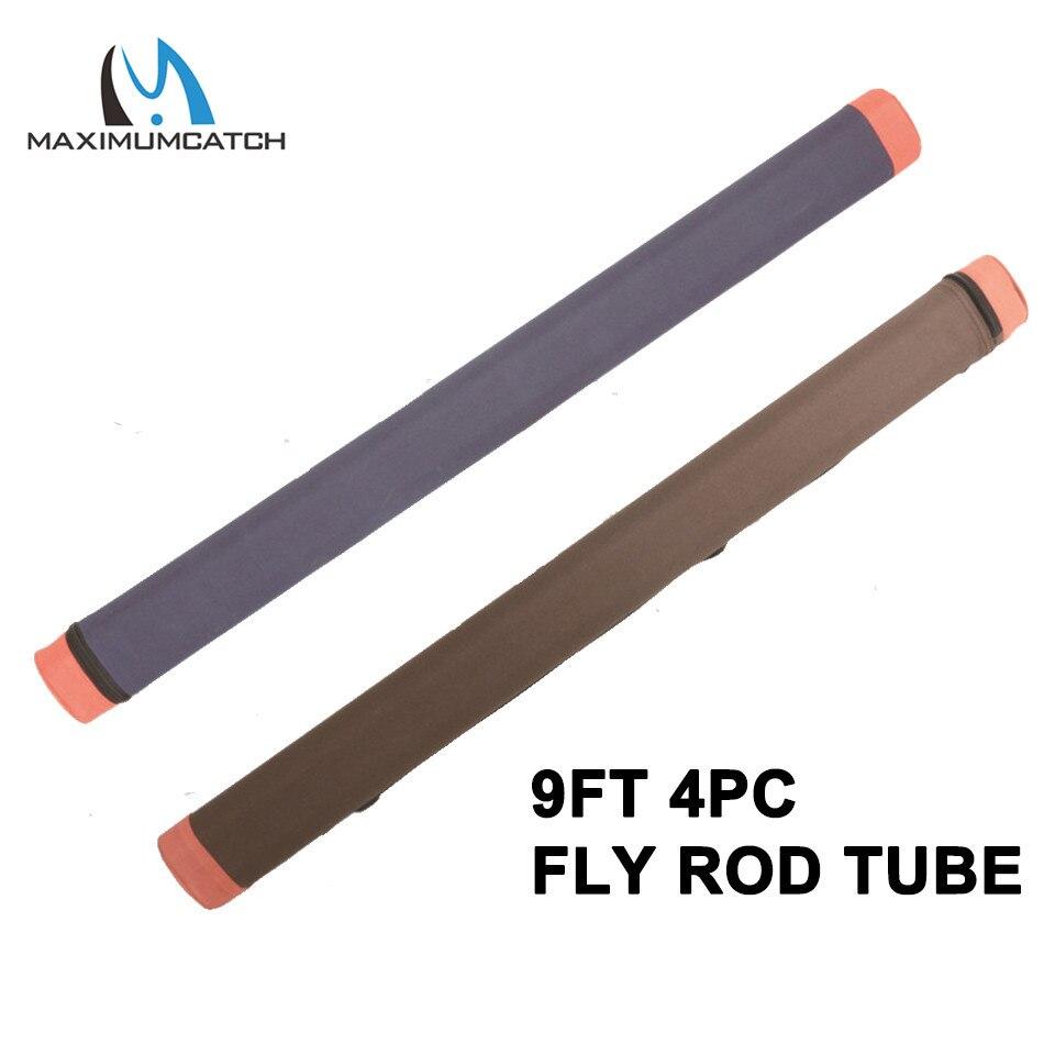 Maximumcatch 9FT 4PCS Fly Rod Case Triangle Cordura Fly Fishing Rod Tube TRTB