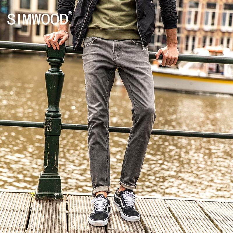 SIMWOOD 2017 Autumn Winter Jeans Men Classic Casual Skinny Jeans Slim Fit Fashion Denim Pants Biker Slim Fit Plus Size NC017038 men s cowboy jeans fashion blue jeans pant men plus sizes regular slim fit denim jean pants male high quality brand jeans