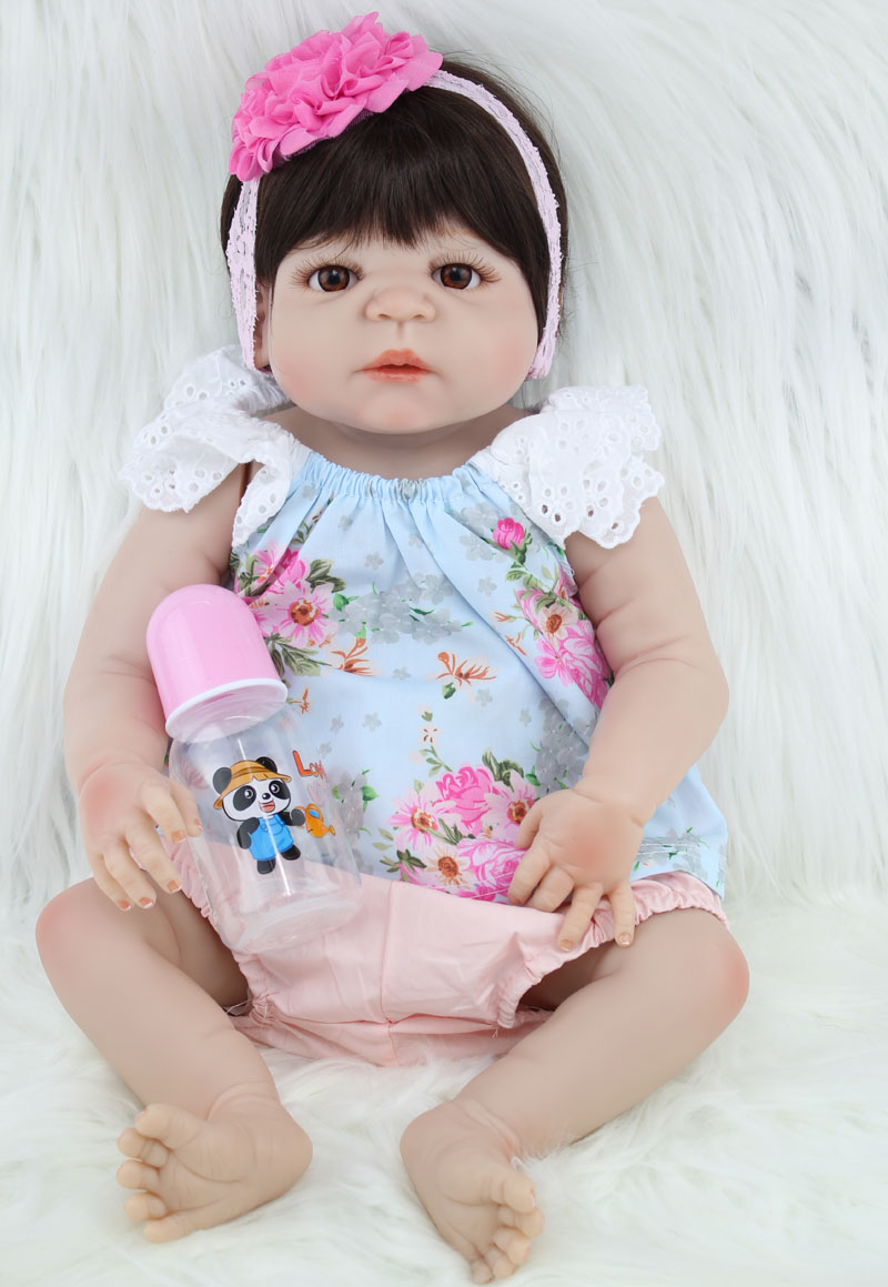 Girl Toys Doll : Npkcollection new cm full silicone reborn girl baby doll