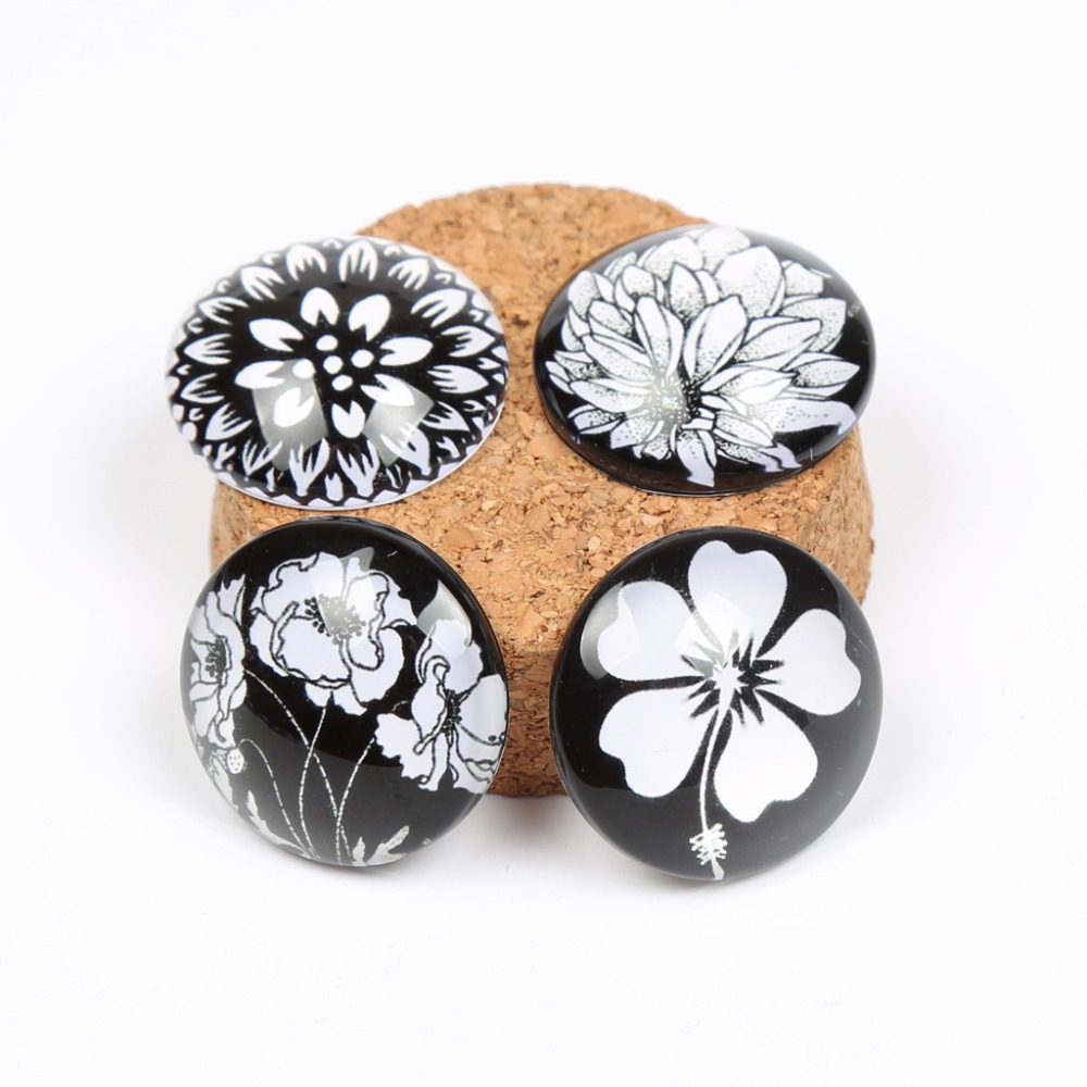 reidgaller 20pcs mix white flower photo round dome glass cabochon 25mm 20mm diy jewelry findings for pendant necklacereidgaller 20pcs mix white flower photo round dome glass cabochon 25mm 20mm diy jewelry findings for pendant necklace