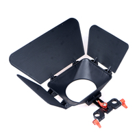 Camera Matte Box Lens Hood For 15mm Rail Rod Support Rig Follow Focus Rig Cage Movie