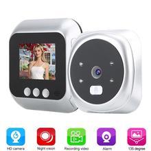 2.4 Inch Tft Ir Led Smart Nachtzicht Veiligheid Deur Kijker Video Elektronische Camera Deurbel Camera Deurbel