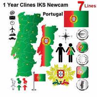 Cccam 7 Cline 1 año Europa servidor 7 líneas HD Italia España árabe Cline para Freesat V8 Super DVB-S2 satélite receptor V8 Finder