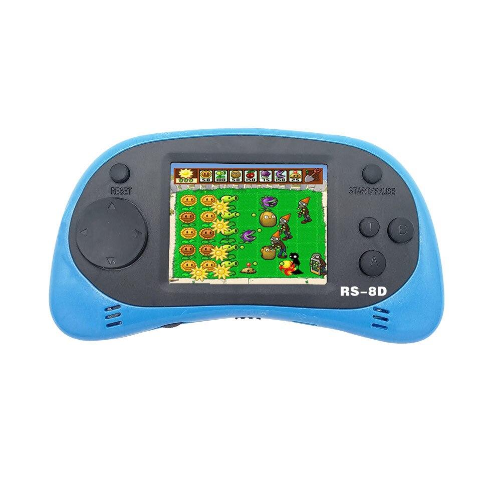 RS-8D Video Spiel Konsole 8 Bit 2,5 zoll Portable Video Handheld Spiel Player Eingebaute 260 Verschiedene Farbe retro spiel N15C