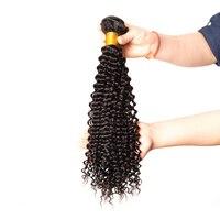 Mslynn 아프리카 곱슬 곱슬 머리 직조 인간의 머리 번들 말레이시아 머리 확장 비 레미 머리 자연 색상 1 개 10 28 인치