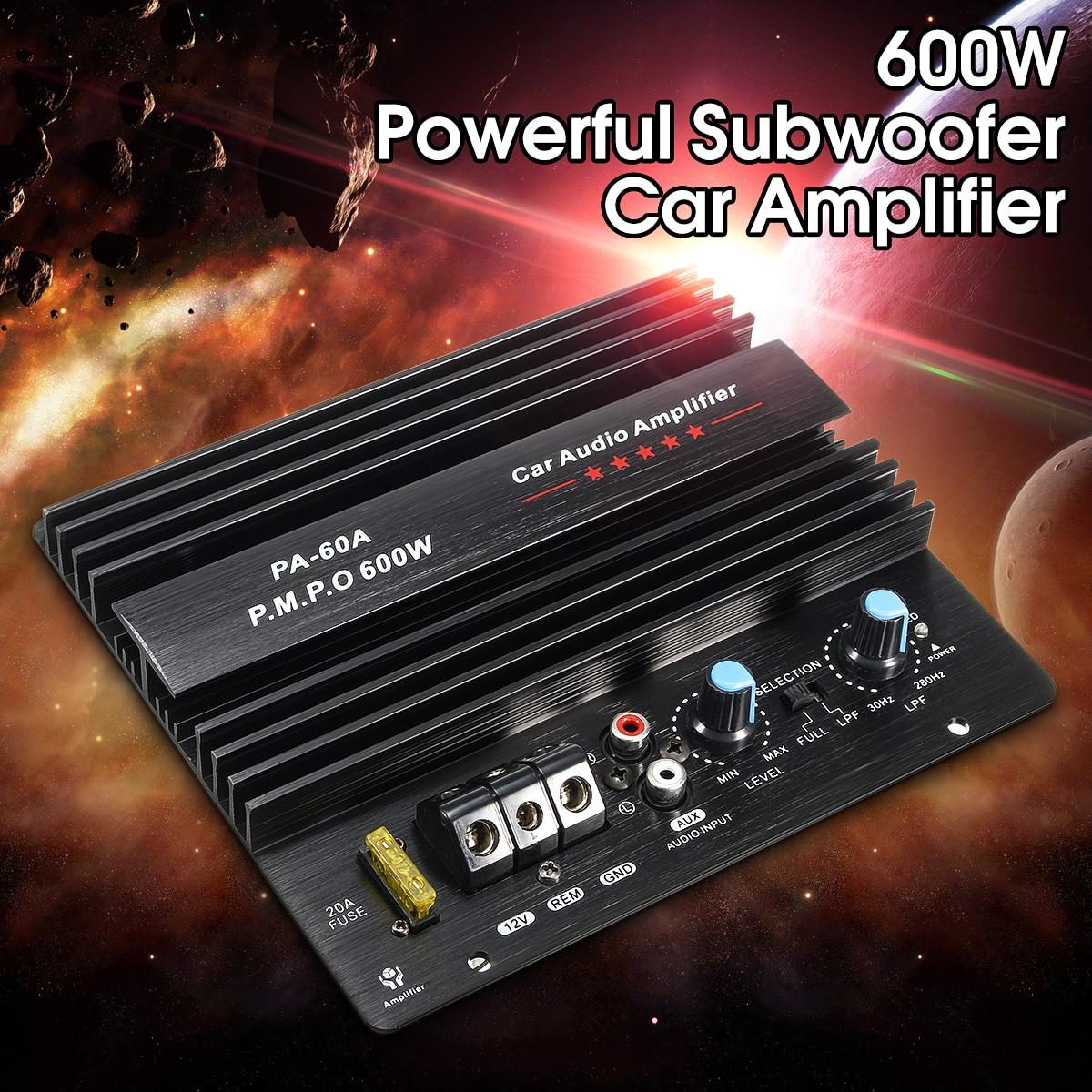 Kroak 12v 600w Car Amplifier Subwoofer Mono Audio Stereo