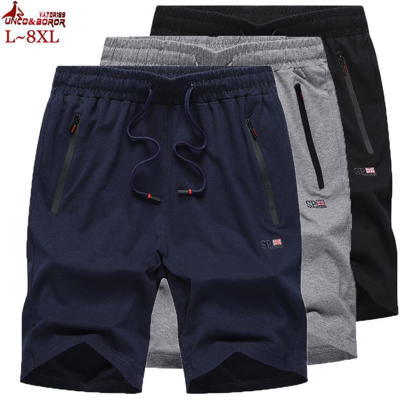 Plus Size L~8XL Men Shorts Summer Fashion Mens Beach Shorts 100% Cotton Knitting Casual Male Bermuda Shorts Homme Brand Clothing