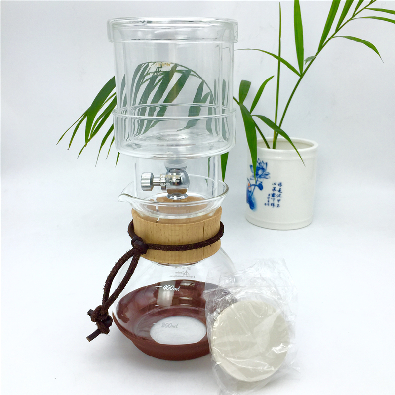 Free shipping new percolators 400ML glass coffee pot / high quality filter coffee maker ice drip coffee filters tool China BD-2