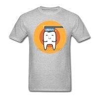 American Apparel Футболки Мужчин Серый Camisa Пользовательские Мультфильм чистки зубов для Команды Большой размер