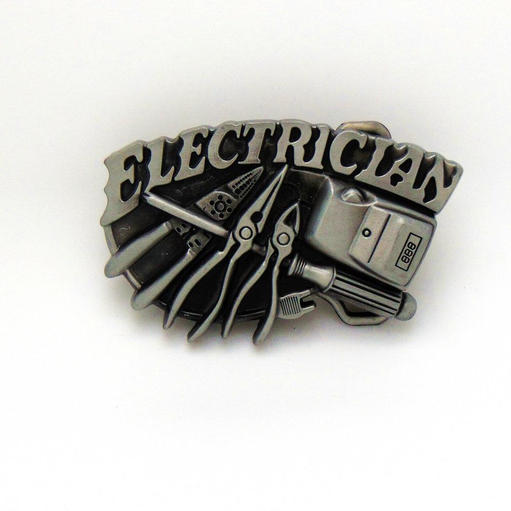 ELECTRICLAN Western Buckle Tool Belt Buckle Zinc Alloy Wear-resistant Fashion Toward The Flow Belt Buckle For 4.0 Belt