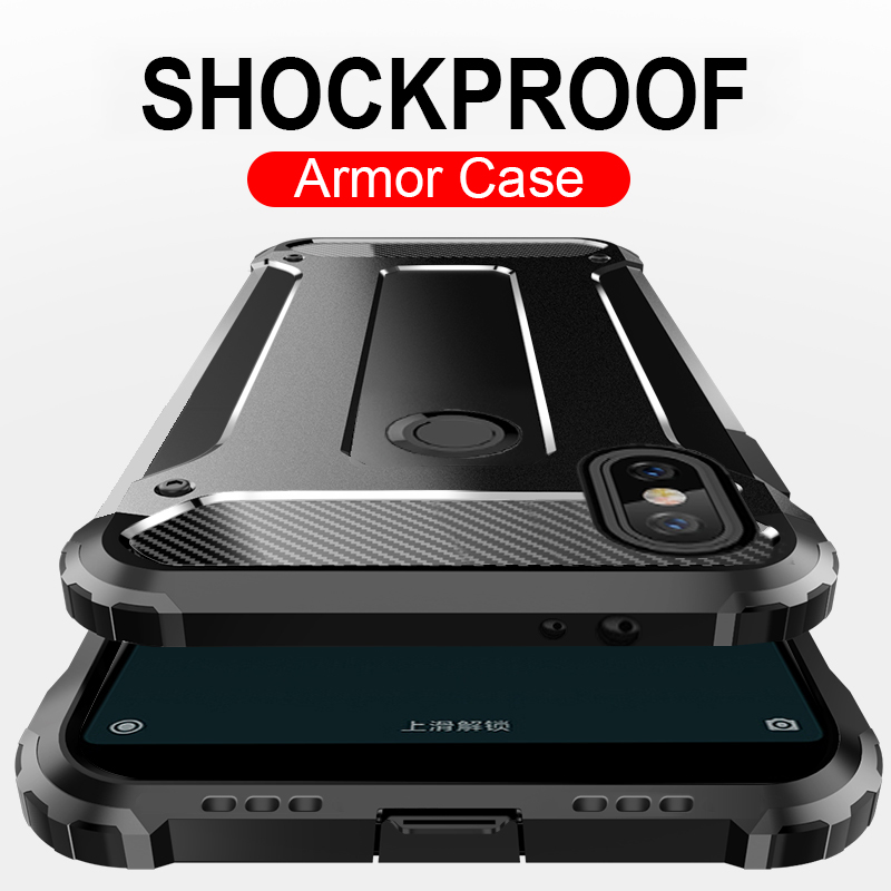 Luxury Armor Shockproof Case For Xiaomi Redmi 5A 6A Note 5 PLus 6 Pro Phone Cover For Xiaomi Pocophone f1 PC+TPU Protective Case()