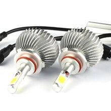 Автомобиль для укладки 9005 9006 LED COB Фары Комплект Авто Лампы Автомобилей Патрон лампочки Для Audi A4 A6 Q5 Mercedes w203 Volvo V70