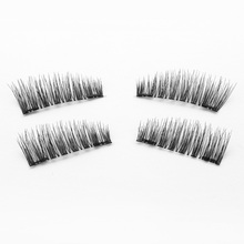 Shozy 0.2mm Magnetic Lashes 6D Magnet Eyelashes 4 Pcs/1 Pair Fake Eyelashes extension with 2 pieces Magnet-K