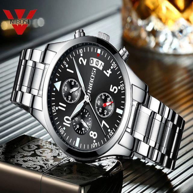NIBOSI Watch Men Fashion Sport Quartz Clock Mens Watches Top Brand Luxury Business Waterproof Military Watch Relogio Masculino