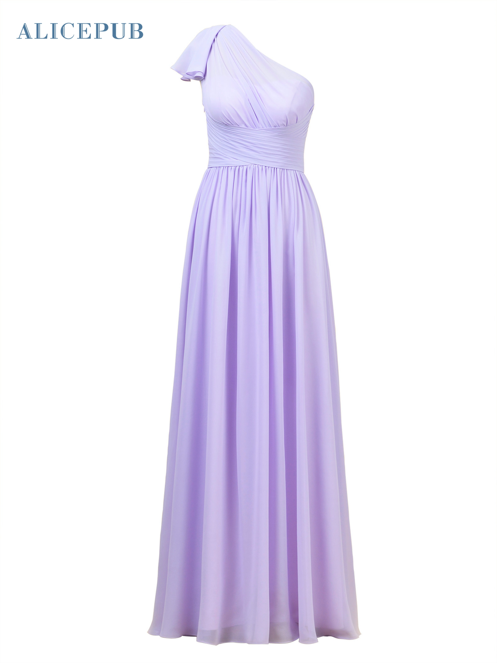 973e7a7a3 Alicepub One Shoulder Bridesmaid Dress for Women Long Evening Party Gown  Maxi Special Occasion